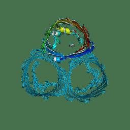 Molmil generated image of 3por